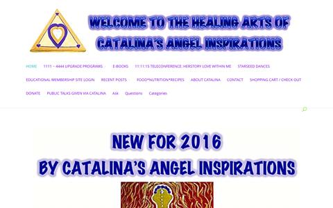 Screenshot of Home Page catalinasangels.com captured Jan. 26, 2016