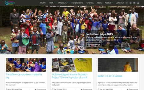 Screenshot of Blog yoproject.org.uk - The latest news and photographs from our trips to Kenya - captured Oct. 27, 2014