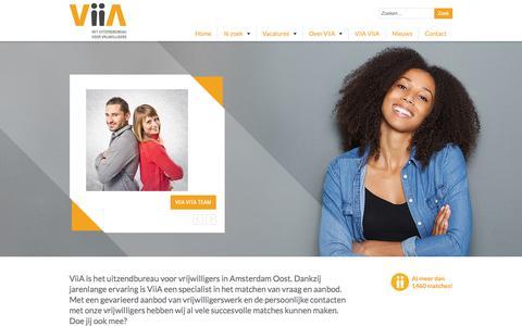 Screenshot of Home Page viia.nl - Stichting ViiA - captured June 17, 2017