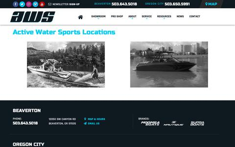 Screenshot of Locations Page Maps & Directions Page activeh2o.com - Find a Boat Dealer Near Me | Active Water Sports | Oregon Boat Sales - captured Oct. 3, 2018