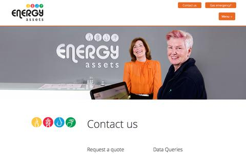 Screenshot of Contact Page energyassets.co.uk - Contact Us - captured Aug. 14, 2019