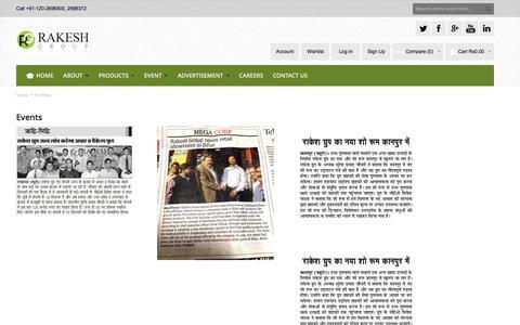 Screenshot of Press Page rakeshgroup.com - In Press - captured Nov. 29, 2016