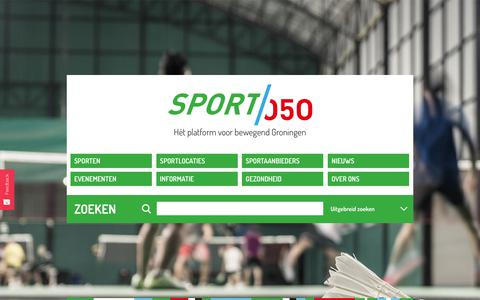 Screenshot of Home Page sport050.nl - Home - captured July 18, 2018