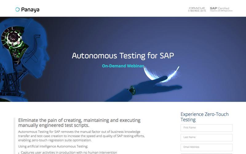 Autonomous Testing for SAP: Webinar