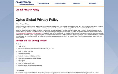 Global Privacy Policy - optomap