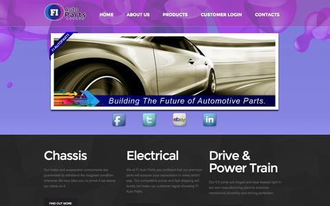 Screenshot of Home Page fiautoparts.com - Home - captured Sept. 30, 2014