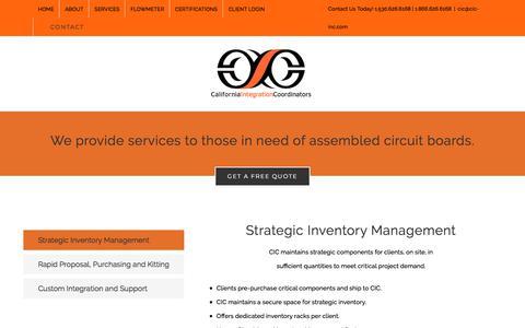 Screenshot of Services Page cic-inc.com - Services – California Integration Coordinators - captured Sept. 26, 2018
