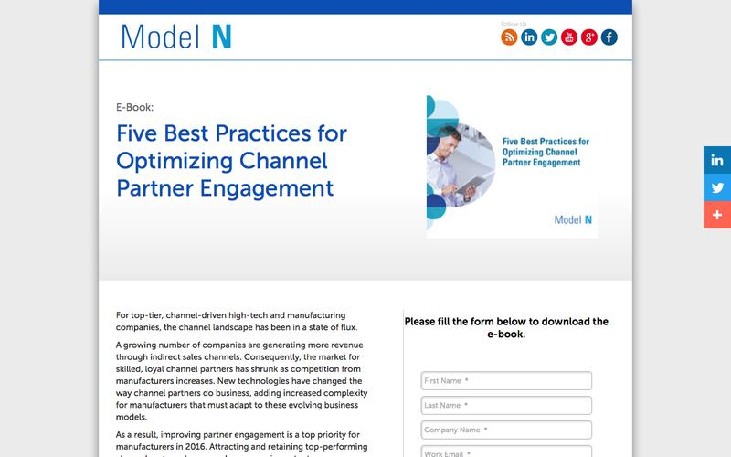 E-Book: Five Best Practices for Optimizing Channel Partner Engagement