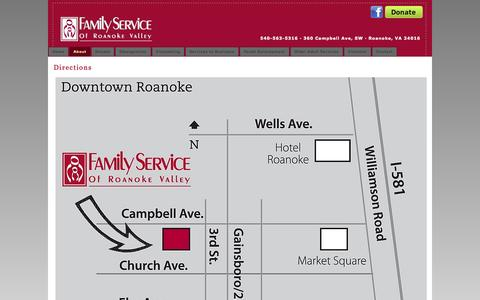 Screenshot of Maps & Directions Page fsrv.org - Directions - captured Oct. 5, 2014