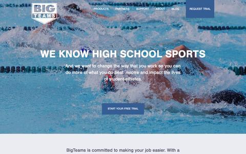 Screenshot of Home Page bigteams.com - Big Teams - captured Dec. 3, 2015