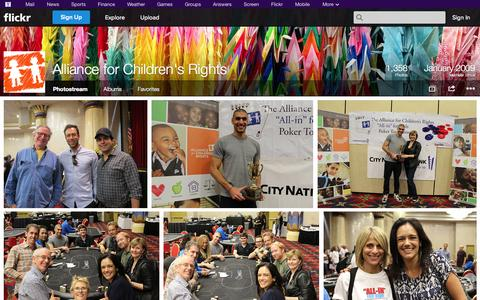 Screenshot of Flickr Page flickr.com - Flickr: Alliance for Children's Rights' Photostream - captured Oct. 23, 2014