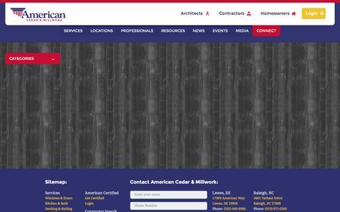 Screenshot of Press Page millwork1.com - Media   American Cedar - captured Feb. 4, 2016