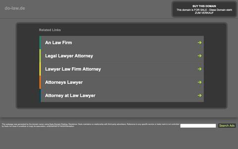 Screenshot of Home Page do-law.de - do-law.de - This website is for sale! - do-law Resources and Information. - captured Oct. 30, 2018