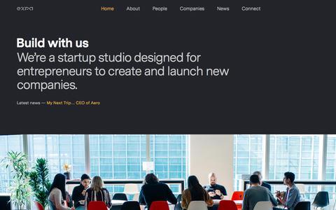 Screenshot of Home Page expa.com - Expa - captured Oct. 2, 2019