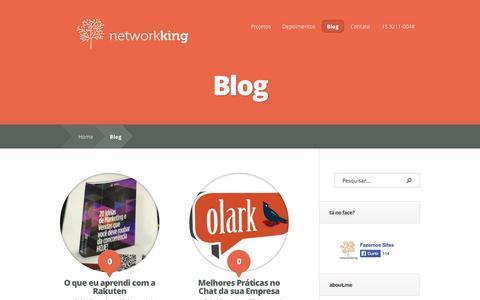Screenshot of Blog networkking.com.br - Blog | networkking - captured Oct. 1, 2014