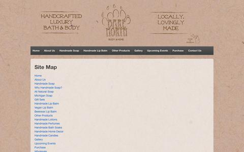 Screenshot of Site Map Page barenorthtc.com - Bare North Site Map | Bare North - captured Oct. 5, 2014