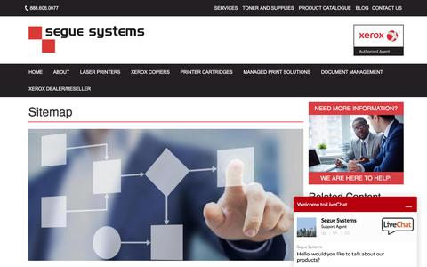 Screenshot of Site Map Page segue-systems.com - Sitemap   Segue Systems in Calgary and Edmonton - captured Oct. 25, 2017