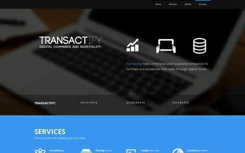 Screenshot of Home Page transactify.nl - Transactify B.V. - Digital Commerce and Hospitality - captured Oct. 7, 2014
