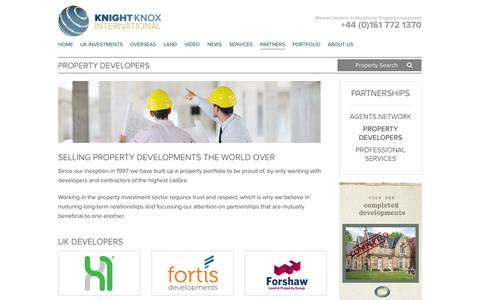 Screenshot of Developers Page knightknox.com - Property Developers - Knight Knox International - captured Sept. 24, 2014