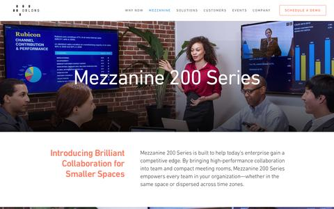 Mezzanine 200 Series - oblong industries, inc.