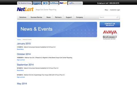 Screenshot of Press Page netlert.com - NetLert - News & Events - captured Feb. 23, 2016