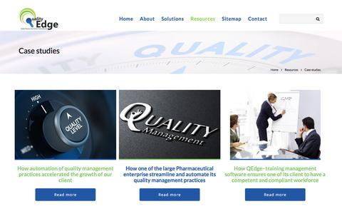 Screenshot of Case Studies Page qedge.co.in - Case studies - Enterprise Quality Management Software EQMS - captured Oct. 10, 2016