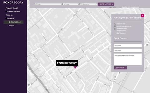 Screenshot of Contact Page foxgregory.co.uk - Contact our St Johns Wood office | foxgregory.co.uk - captured Jan. 8, 2016