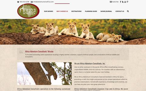 Screenshot of About Page adventuresinafrica.com - About - Africa Adventure Consultants - captured Oct. 7, 2017
