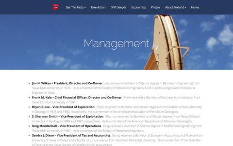 Screenshot of Team Page texpetro.com - Management | Texland Petroleum, L.P. - captured Oct. 1, 2014
