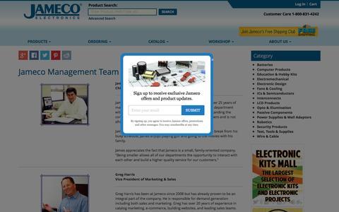 Screenshot of Team Page jameco.com - Jameco Management Team - captured Oct. 12, 2016