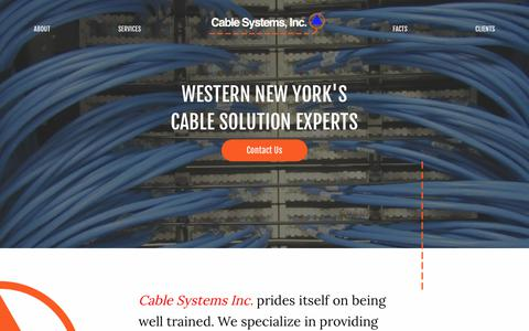 Screenshot of Home Page cablesysinc.com - Cable Systems, Inc. - Communications Cabling Contractor - captured Sept. 26, 2018