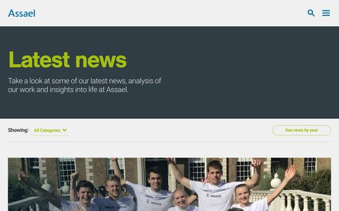 Screenshot of Press Page assael.co.uk - News | Assael - captured Oct. 4, 2018