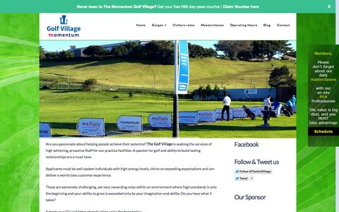 Screenshot of Jobs Page thegolfvillage.co.za - Careers at The Golf Village - captured Oct. 1, 2014