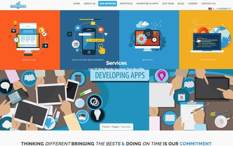 Screenshot of Services Page mobulous.com - Mobile Application Development Services by Experts - captured Nov. 29, 2016