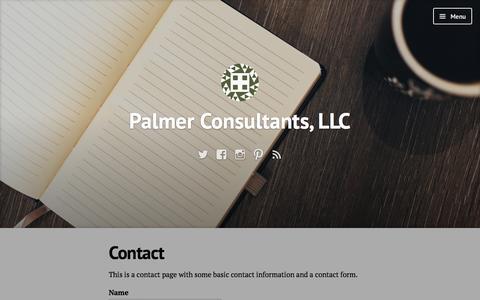 Screenshot of Contact Page wordpress.com - Contact – Palmer Consultants, LLC - captured July 18, 2016