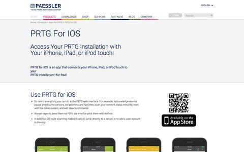 PRTG for iOS—Access Your PRTG Installation On the Go!