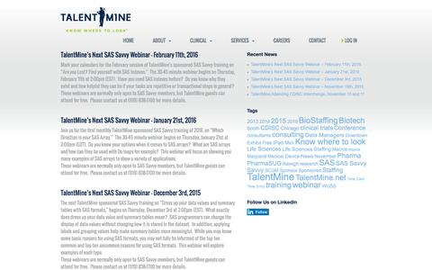 Screenshot of Press Page talentmine.net - News - Talent Mine - captured Jan. 13, 2016