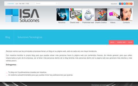 Screenshot of Blog isasoluciones.com - Blog - ISA Soluciones - captured July 22, 2016