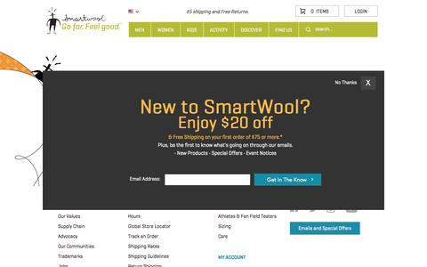 Screenshot of Hours Page smartwool.com - Customer Service Hours - captured Sept. 19, 2014