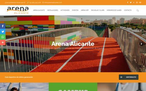 Screenshot of Home Page arenaalicante.com - Inicio - Arena Alicante - captured July 28, 2018