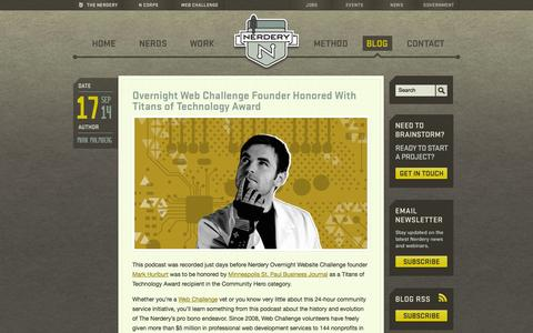 Screenshot of Blog nerdery.com - Inside the Nerdery - - captured Sept. 19, 2014
