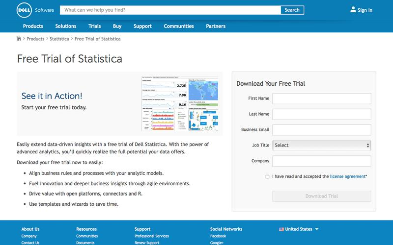 Download your free trial for Statistica