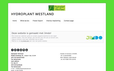 Screenshot of About Page hydroplantwestland.com - Impressum - De website van hydroplantwestland! - captured July 24, 2018