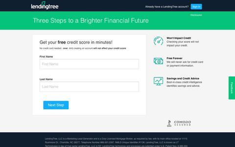 Screenshot of Signup Page lendingtree.com - LendingTree.com - My LendingTree - captured Sept. 19, 2018