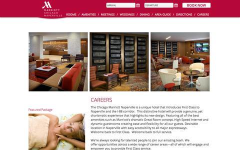 Screenshot of Jobs Page chicagomarriottnaperville.com - Marriott Naperville Hotel Careers - captured July 17, 2018