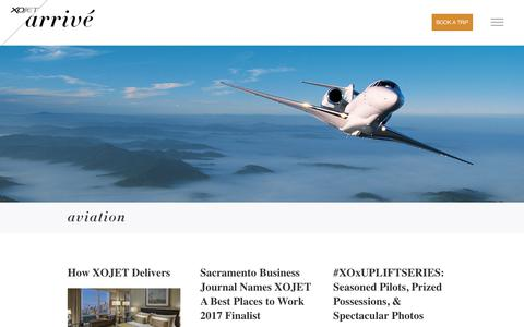 Screenshot of Blog xojet.com - Aviation Blog Article Archive | XOJET Arrivé - captured May 15, 2018