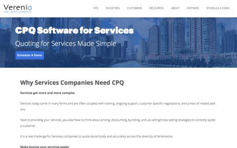 Configure Pricing For Services | CPQ Software - Verenia