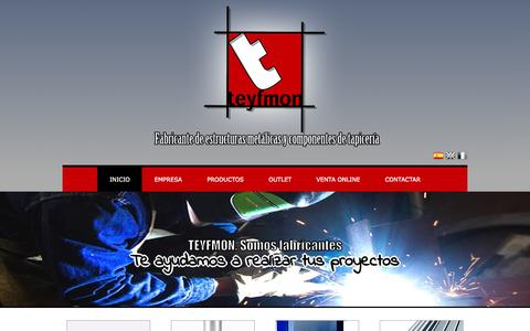 Screenshot of Home Page teyfmon.com - TEYFMON S.L. - captured Oct. 19, 2015