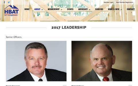 Screenshot of Team Page hbat.org - Leadership | Home Builders Association of Tennessee - captured Jan. 16, 2018
