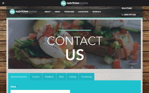 Screenshot of Contact Page nutritionstation.com - Contact Us | Health Food & Cafe | Nutrition Station - captured Aug. 14, 2016